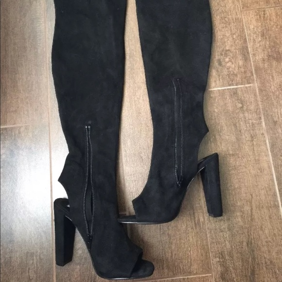 525341c495b New!Steve Madden open toe over the knee boots Sz 8